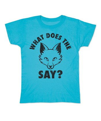 Turquoise 'What Does the Fox Say?' Head Fitted Tee - Women