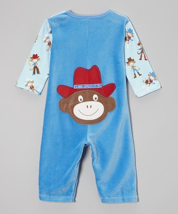 Blue Spaghetti Western Playsuit - Infant