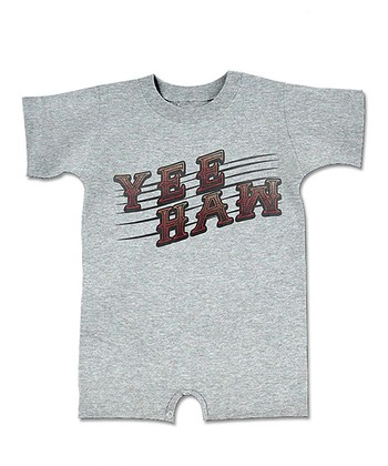 Heather Gray 'Yeehaw' Romper - Infant