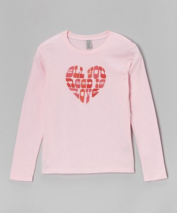 Light Pink 'All You Need Is Love' Tee - Toddler & Girls