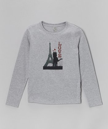 Heather Gray 'Paris Love' Tee - Toddler & Girls