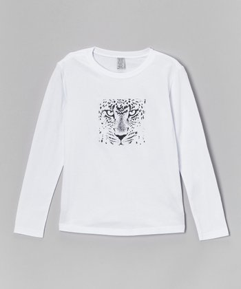 White Cheetah Tee - Toddler & Girls