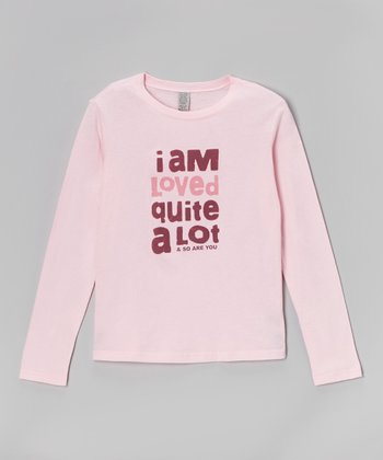 Light Pink 'I Am Loved' Tee - Toddler & Girls