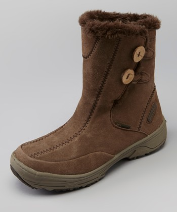 Brown & Taupe Snowflake Chukka All-Terrain Shoe - Women