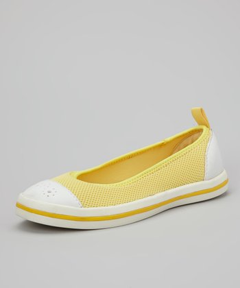 Lemon & White Milly Slip-On Shoe - Women