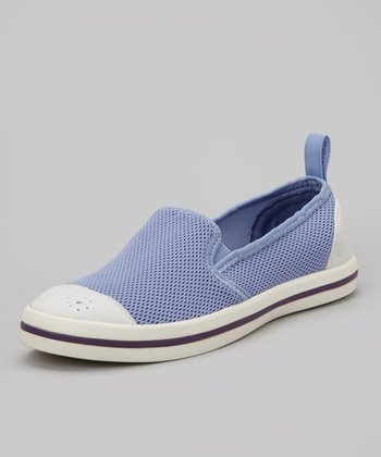 Blue Jay & White Fitch Slip-On Shoe - Women