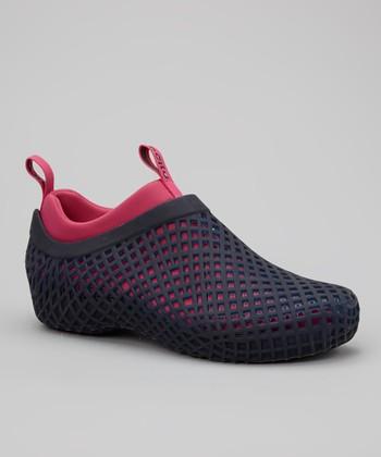 Navy & Cerise Peruvia Shoe - Women
