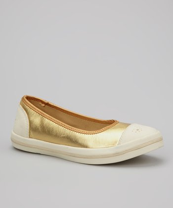 Gold & Cream Milly Slip-On Shoe - Women