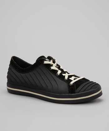 Black & Cream Ceecee Sneaker - Women