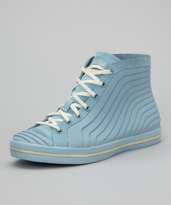 Blue & Cream Gigi Hi-Top Sneaker - Women