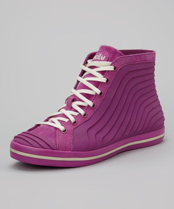 Berry & Cream Gigi Hi-Top Sneaker - Women