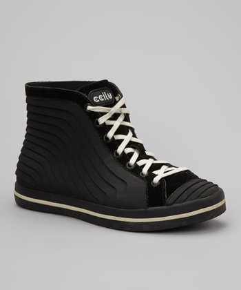 Black & Cream Gigi Hi-Top Sneaker - Women