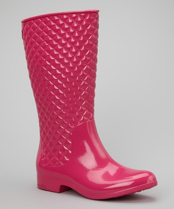 Pink Diagonal Boot - Women
