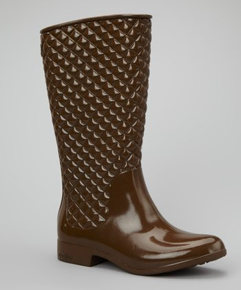 Chocolate Diagonal Boot - Women