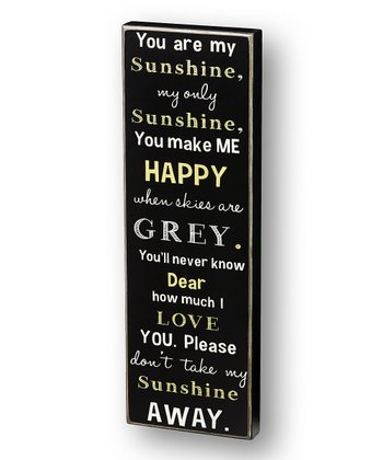 'My Only Sunshine' Box Sign