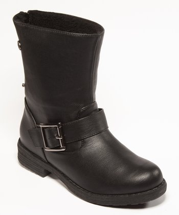 Black Buckle Bobina Ankle Boot