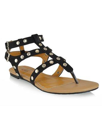 Shoe Republic LA Black Quintine Sandal