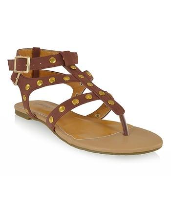 Shoe Republic LA Brown Quintine Sandal