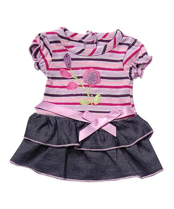 Pink & Purple Ruffle Skirt Doll Outfit