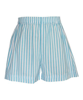 Turquoise Stripe Shorts - Infant, Toddler & Boys