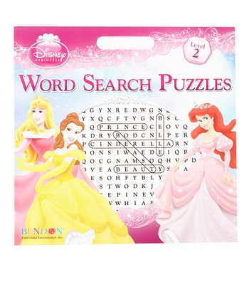 Disney Princess Word Search Puzzles Paperback