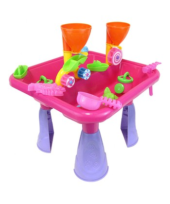 Pink Sand & Water Table Toy Set