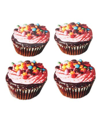Chocolate Cupcake Coaster - Set of Four
