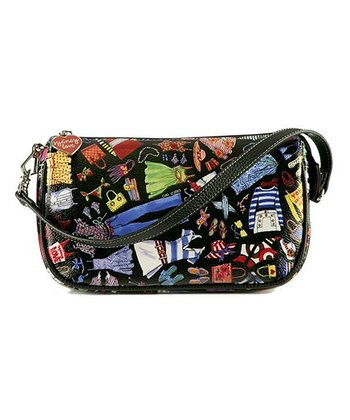 Black Wadrobe Travel Wristlet