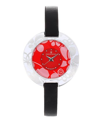 Red Leather Candy Watch - Women