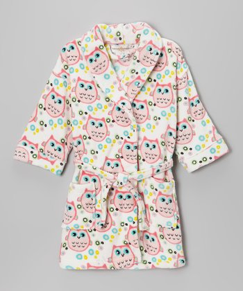 White Owl Bathrobe - Girls