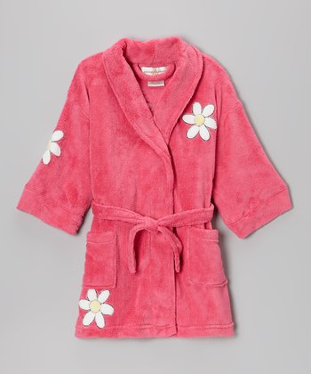 Fuchsia Daisy Bathrobe - Girls