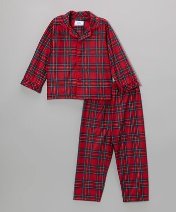 Red Holiday Plaid Pajama Set - Infant, Toddler & Boys