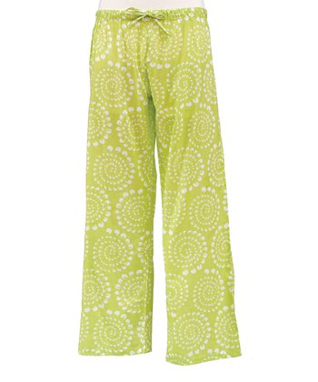 Lime Pinwheel Lounge Pants