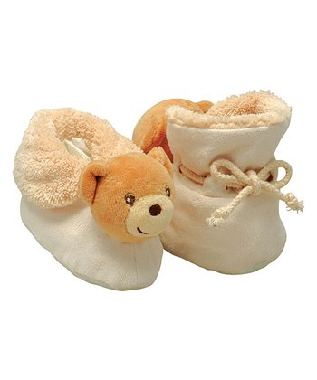 Cream Bear Booties