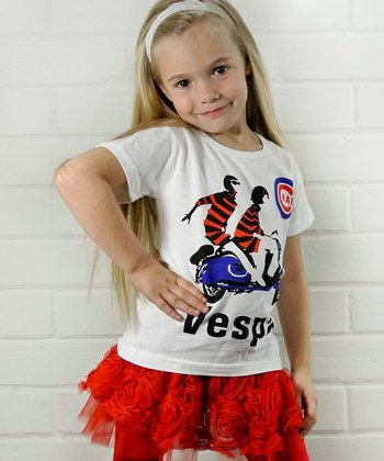 White 'Vespa' Tee - Toddler & Girls