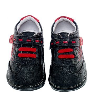 Black & Red Patch Leather Shoe