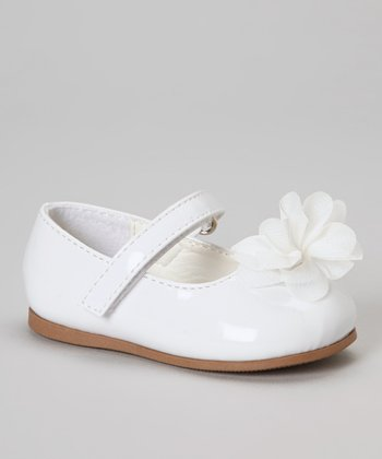 Pure White Flower Patent Flat