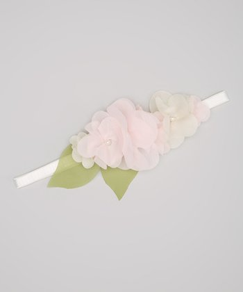 Pink Pearl Flower Headband