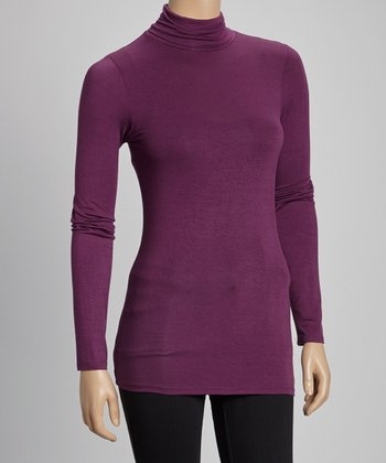 Eggplant Turtleneck