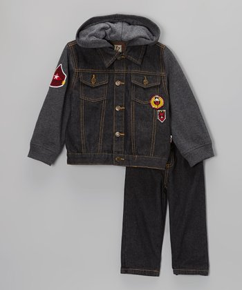 Denim Military Layered Jacket & Jeans - Infant, Toddler & Boys