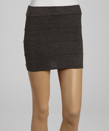 Charcoal Bandage Sweater Skirt