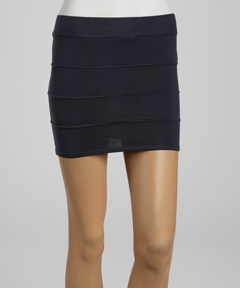Navy Bandage Sweater Skirt