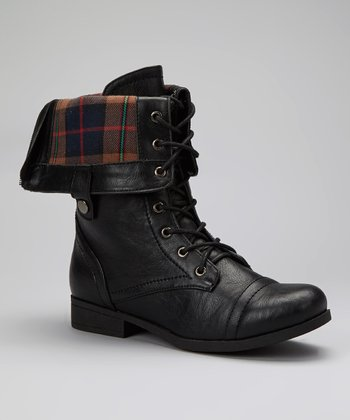 Black Fold-Over Freda Boot