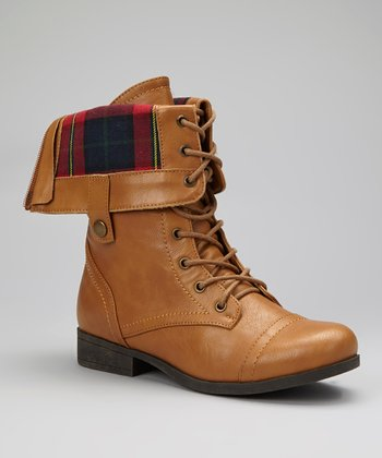 Camel Fold-Over Freda Boot