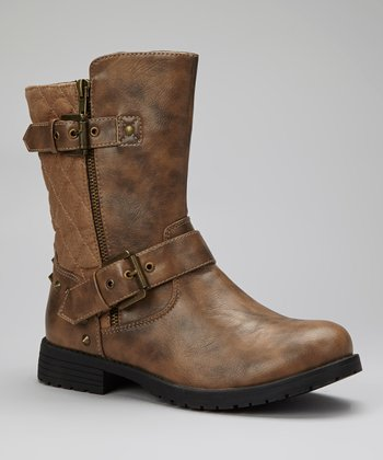 Taupe Quilted Gloria Boot