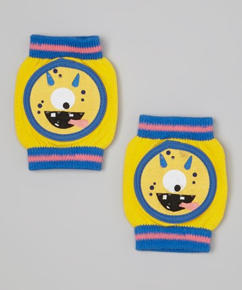 Skidders Yellow One-Eyed Monster Gripper Knee Pads