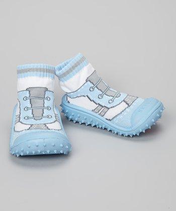 Skidders Blue Cool Sports Gripper Shoes