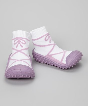 Skidders Purple Ballerina Gripper Shoes