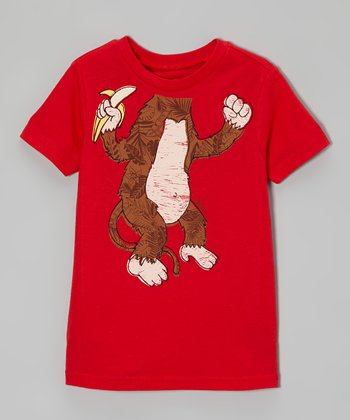 Red Monkey Business Tee - Infant, Toddler & Boys