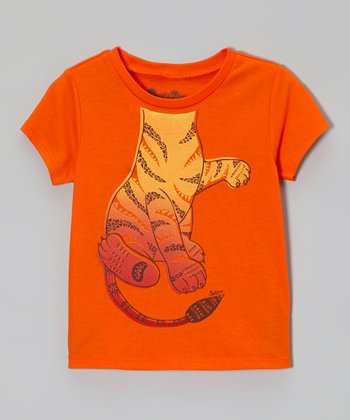 Orange Playful Tiger Tee - Infant & Toddler